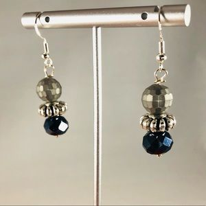 Frontrow.Style Jewelry - SOLD Sterling Silver Earrings Grey Black Silver